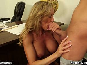 Young boy fuck his busty adult teacher during a lesson