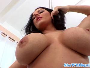 Big boobed Sophie Dee titfucked after squirting