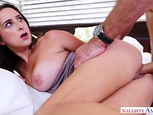 Stunning slut makes some use of the advantage of natural boobs